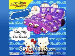 Sprei Lady Rose Kitty & Daniel Purple 180×200