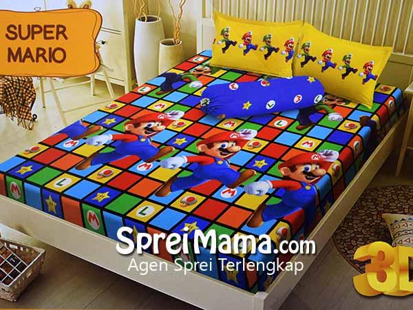 Sprei Santika Kintakun D'luxe Super Mario 180×200